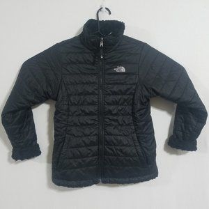 North Face Womens XS Black Reversible Jacket Coat